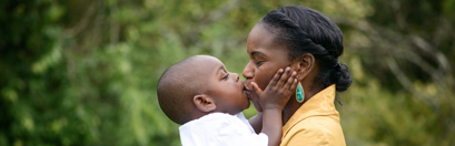 son kissing mom image